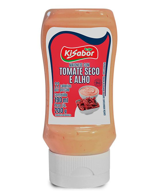 Maionese sabor Tomate Seco e Alho
